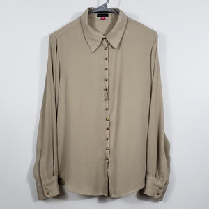 Vince Camuto women's studded button down top